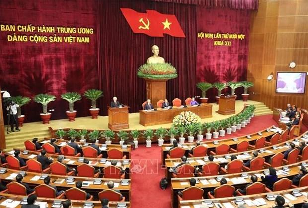 越共十二届中央委员会第十一次全体会议公报(第四号) hinh anh 1