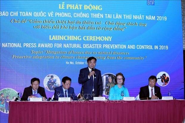 越南首次举办全国防治自然灾害新闻奖 hinh anh 1