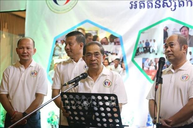 来越留学的柬埔寨往届生在柬埔寨金边举行见面会 hinh anh 1