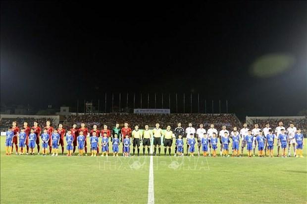 国际足球友谊赛:越南U22球队与阿联酋U22球队握手言和 hinh anh 1