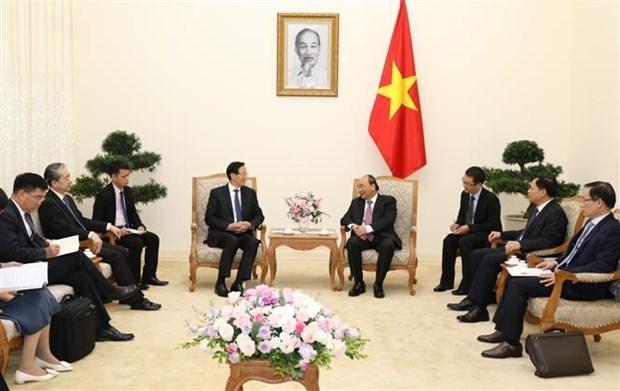 越南政府总理阮春福会见中国农业农村部部长韩长赋 hinh anh 2