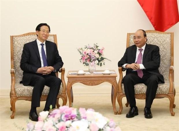 越南政府总理阮春福会见中国农业农村部部长韩长赋 hinh anh 1