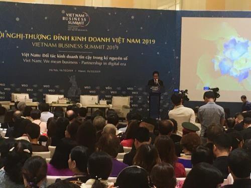 2019年越南商务峰会在河内拉开序幕 hinh anh 1