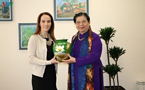 越南国会副主席丛氏放与IPU主席和古巴国会副主席举行双边会晤 hinh anh 1