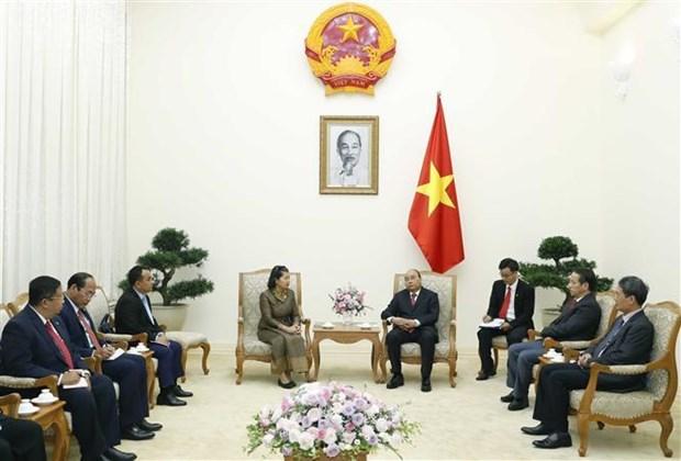 越南政府总理阮春福会见柬埔寨副首相梅森安 hinh anh 1