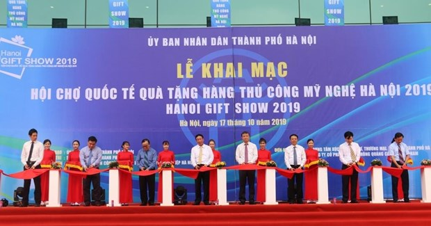 2019年河内国际手工艺品和礼品展正式开幕 hinh anh 1