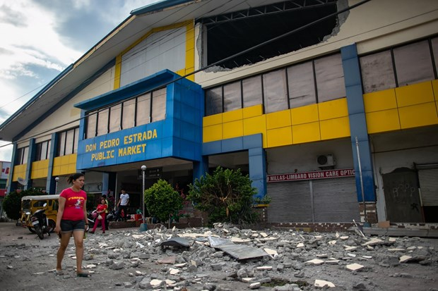 菲律宾棉兰老岛发生6.4级地震 至少3人死亡数十人受伤 hinh anh 1