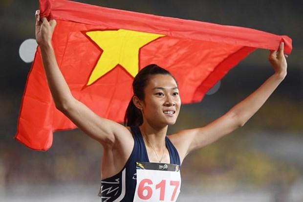 越南田径运动员黎绣征及其维护东南亚速度女王称号的目标 hinh anh 2