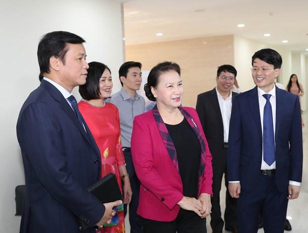 越南国会主席阮氏金银出席《人民代表报》更名升级10周年纪念活动 hinh anh 1