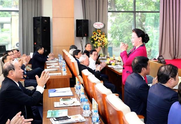 越南国会主席阮氏金银出席《人民代表报》更名升级10周年纪念活动 hinh anh 2