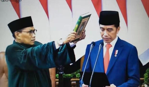 印尼总统佐科宣誓就职 越南国家副主席出席典礼 hinh anh 1