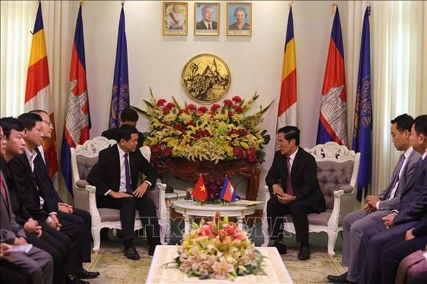 柬埔寨金边领导人建议巴地头顿省开通跨境旅游巴士 hinh anh 1