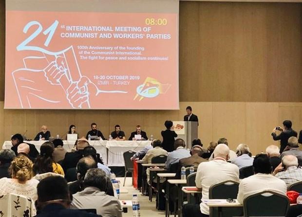 越南共产党代表团出席第21次共产党和工人党国际会议 hinh anh 1