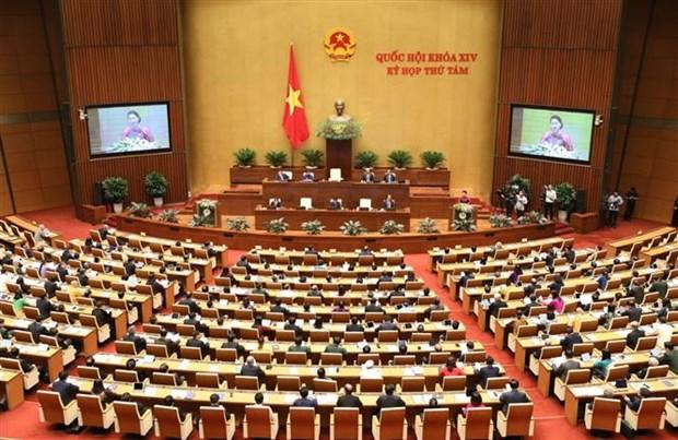 越南第十四届国会第八次会议隆重开幕 hinh anh 1