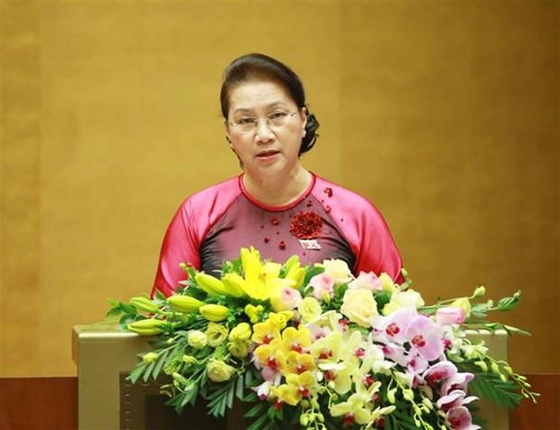 越南第十四届国会第八次会议:为完成2016-2020年经济社会发展五年计划打下坚固基础 hinh anh 2