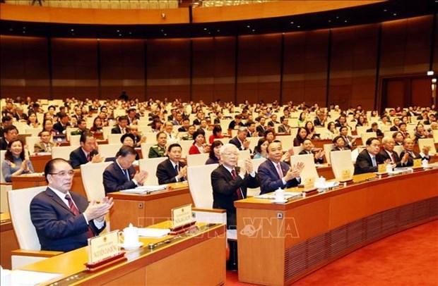 越南第十四届国会第八次会议公报(第一号) hinh anh 1