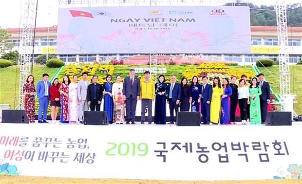 越南企业参加在韩国举行的2019年国际农业展览会 hinh anh 1
