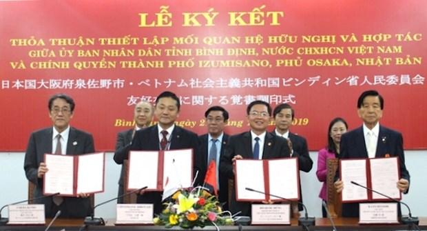 越南平定省与日本泉佐野市签署合作协议 hinh anh 1