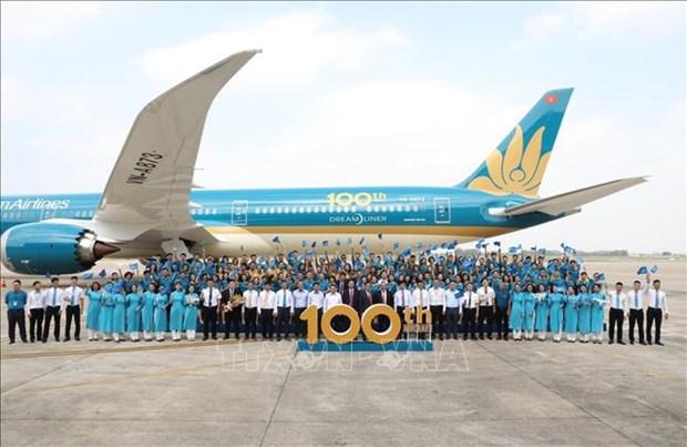 张和平出席越航机队第100架飞机交接仪式 hinh anh 1