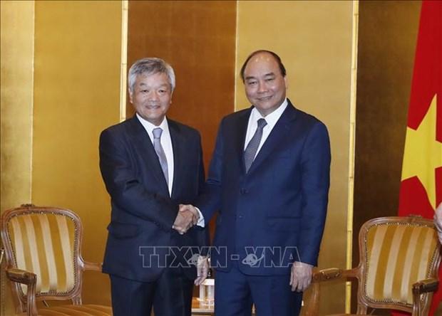 越南政府总理阮春福会见部分日本地方和组织领导 hinh anh 1