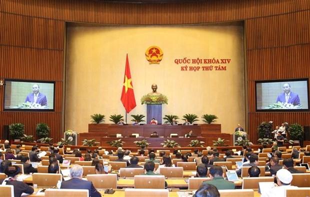 越南第十四届国会第八次会议:讨论《证券法》和处理税收债务的决议 hinh anh 1