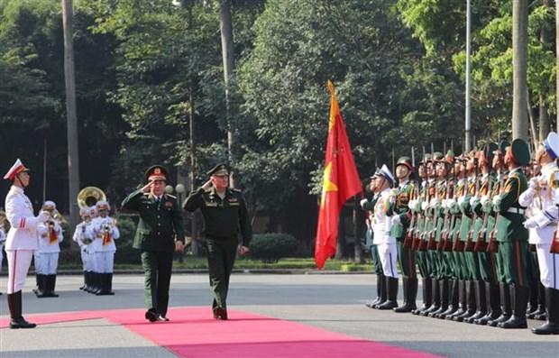 俄罗斯国防部代表团对越南进行正式访问 hinh anh 1