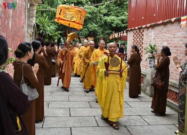 泰国王御赐袈裟布施仪式在河内举行 hinh anh 1