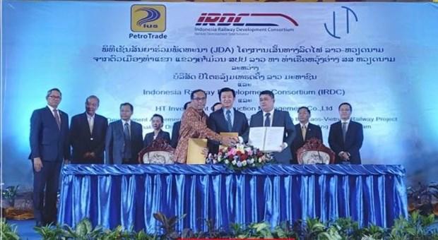 印尼一家公司负责建设连接越南与老挝的铁路 hinh anh 1