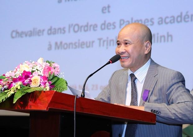 越南两名学者荣获法国骑士勋章 hinh anh 1