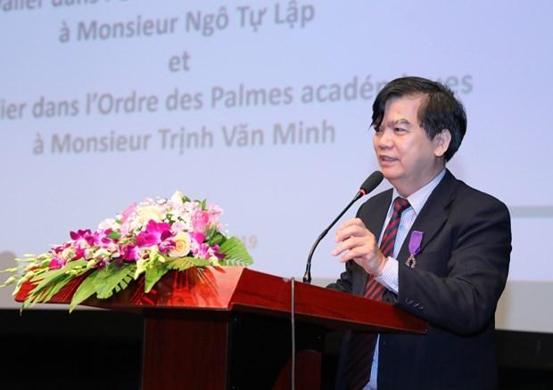 越南两名学者荣获法国骑士勋章 hinh anh 2