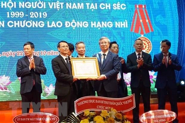 陈国旺出席旅捷越南人协会成立20周庆典 hinh anh 1