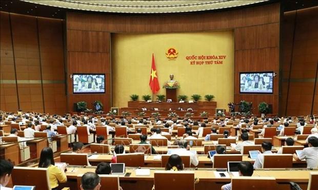 越南第十四届国会第八次会议:对干部、公务员与职员队伍建立和管理主张进行法制化 hinh anh 1
