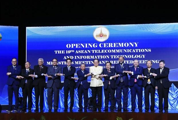 越南出席第19届东盟电信和信息技术部长会议 hinh anh 1