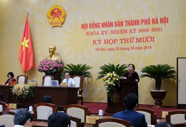 河内市第十五届人民议会召开第十次会议 hinh anh 2