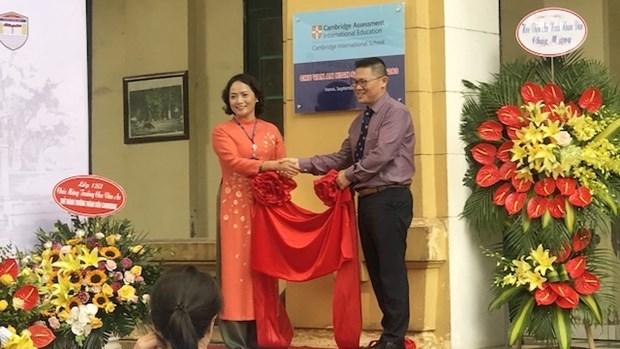 越南首所公立学校成为剑桥大学会员学院 hinh anh 1