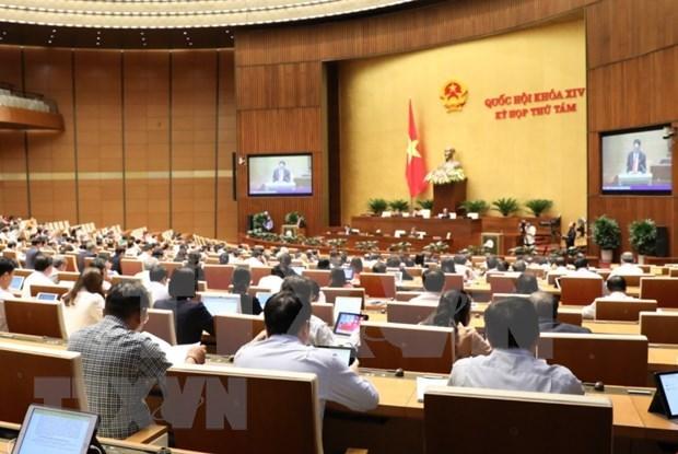 越南第十四届国会第八次会议:国会代表分组讨论三部法案 hinh anh 1