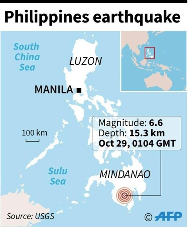 菲律宾南部发生6.6级地震至少6人死亡 hinh anh 2