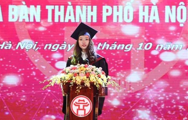 河内市86名优秀毕业生获表彰 hinh anh 3