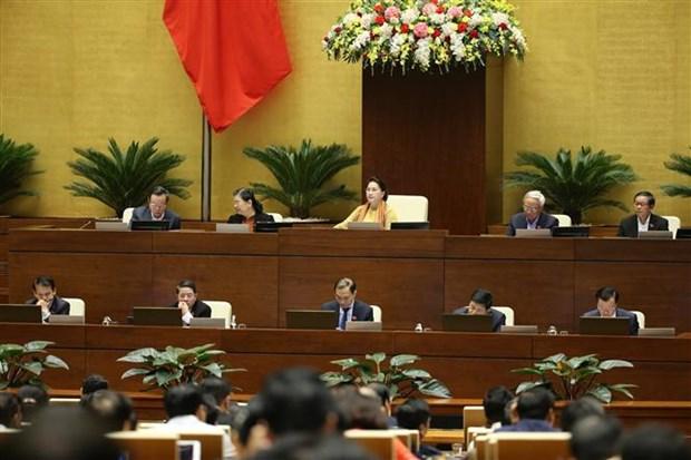 越南第十四届国会第八次会议开始讨论经济社会问题 hinh anh 1