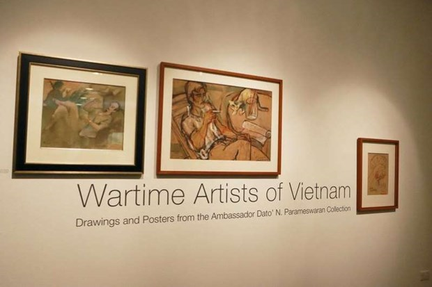 越南军队文艺工作者艺术展在新加坡举行 hinh anh 1