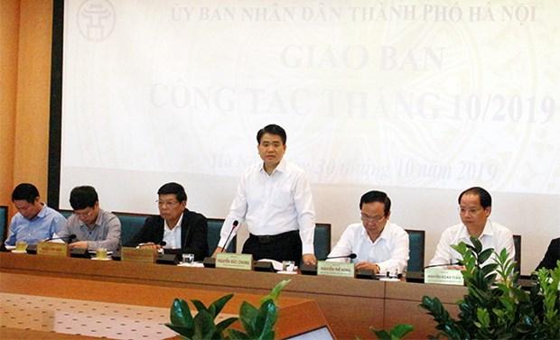 河内市努力完成2019年最后2个月的核心任务 hinh anh 1