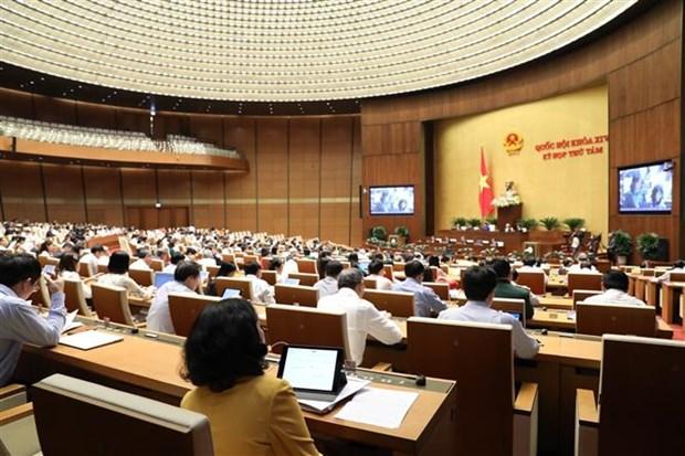越南第十四届国会第八次会议继续讨论经济社会和国家财政预算问题 hinh anh 1