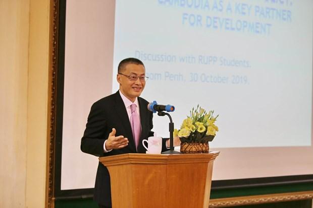 越南驻柬埔寨大使:柬埔寨是越南重要的发展伙伴 hinh anh 1