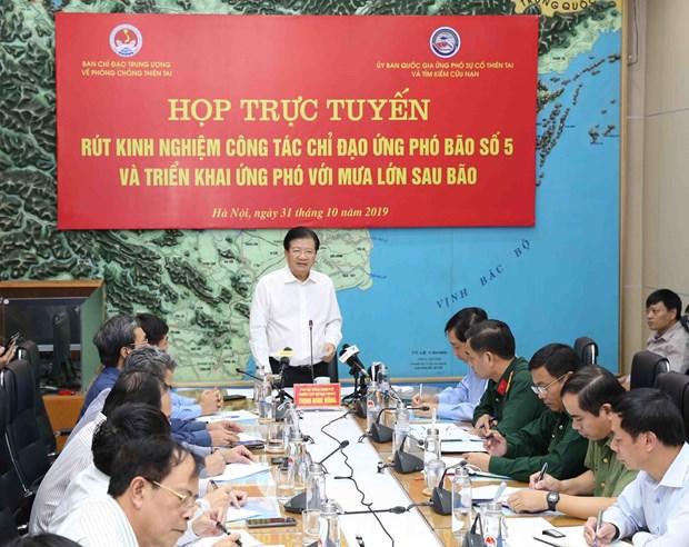 越南政府副总理郑廷勇:密切跟踪天气变化和5号台风动态 hinh anh 1