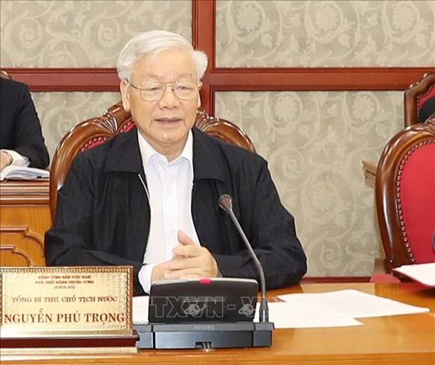 越共中央政治局就关于中央反腐败指导委员会职责的规定修改补充工作进行讨论 hinh anh 1