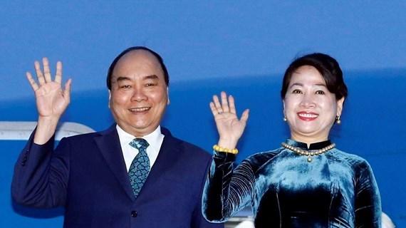 越南政府总理阮春福启程赴泰国出席第35届东盟峰会和相关会议 hinh anh 1