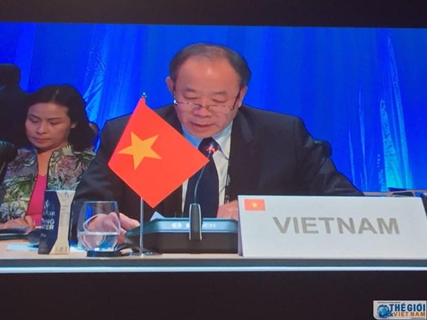 越南代表出席第36届法语国家部长级会议 hinh anh 1