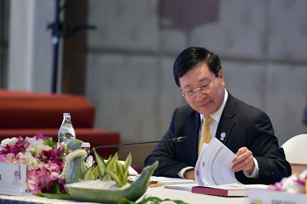 越南政府副总理兼外长范平明:加强东盟内部团结统一具有战略性意义 hinh anh 2