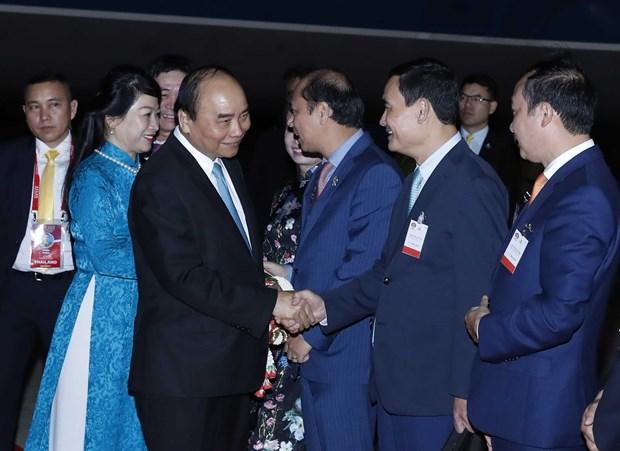 越南政府总理阮春福抵达泰国曼谷 开始第35届东盟峰会框架下的系列活动 hinh anh 2