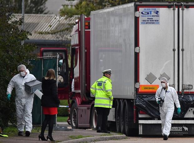 英国集装箱藏尸案:英国警方确认遇难者中有越南公民 hinh anh 1